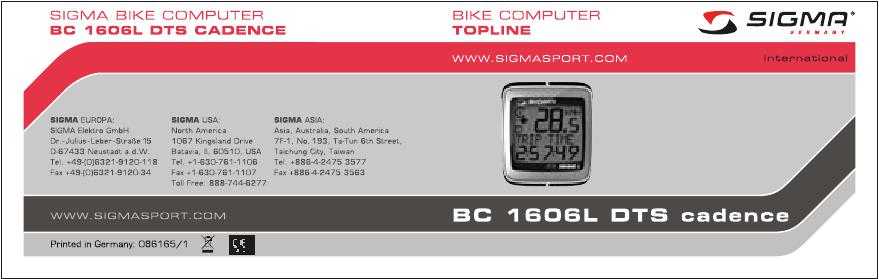 Sigma Sport 300 инструкция - фото 7