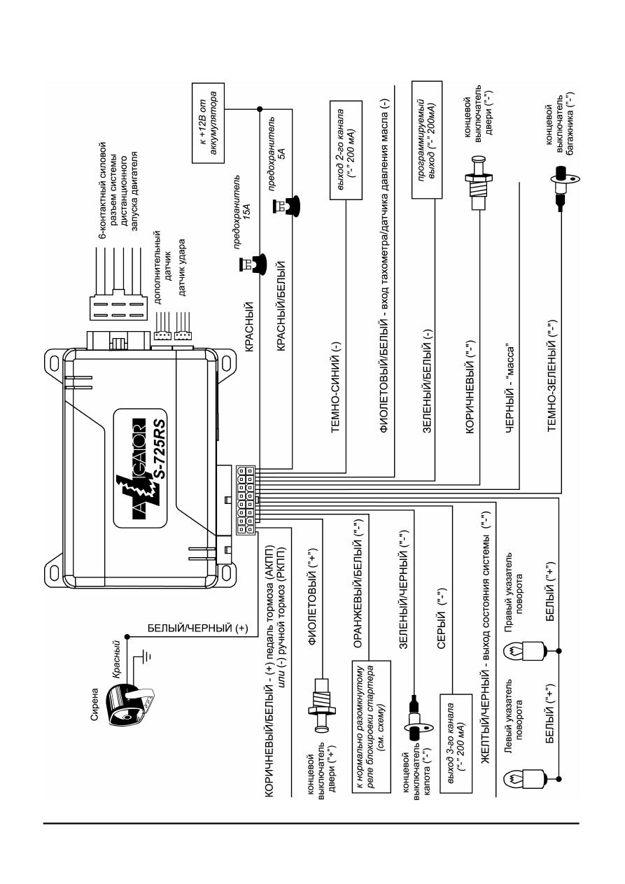Инструкция по установке alligator 725 rs