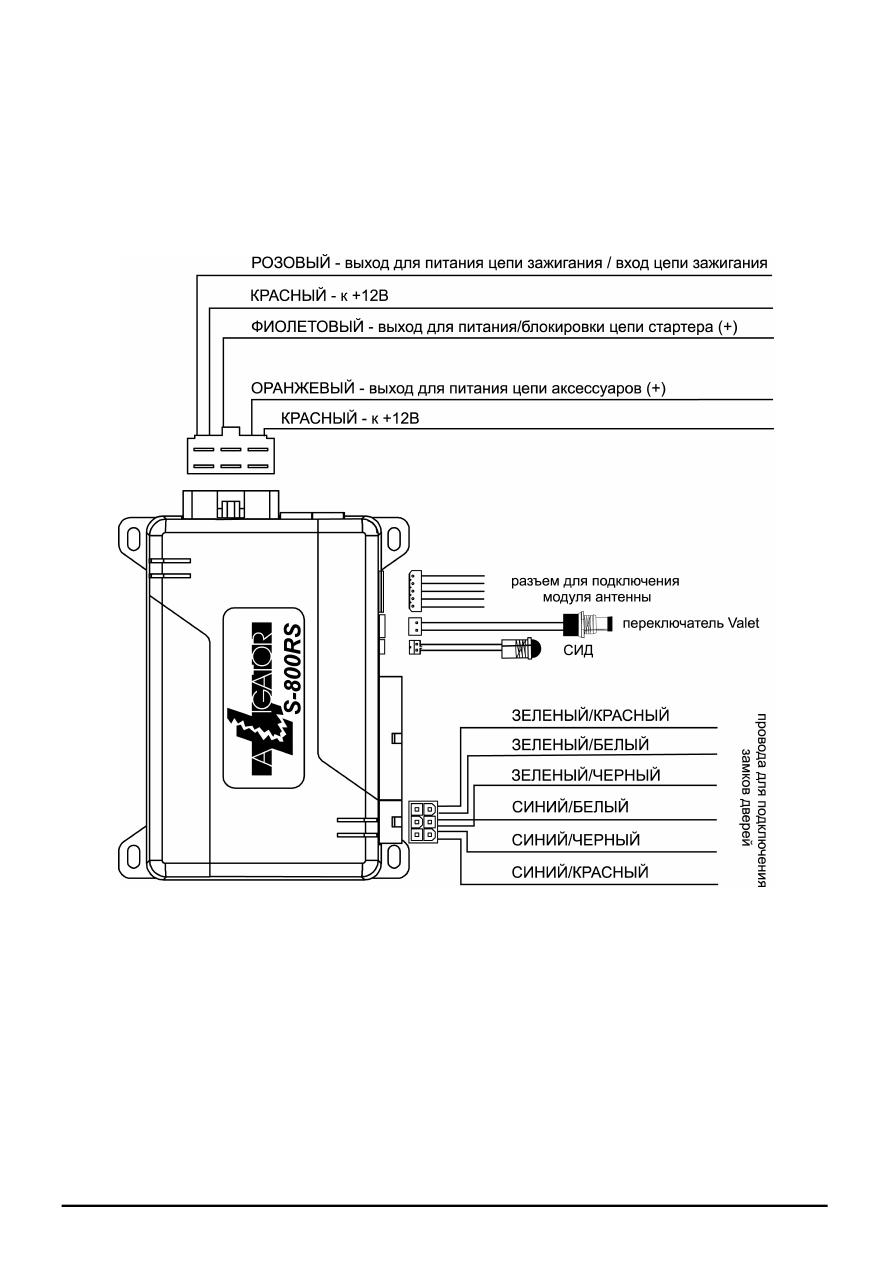 инструкция автосигнализации аллигатор 825