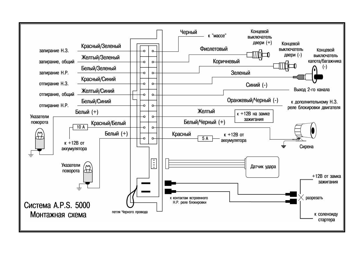 схема подключения a.p.s.5000