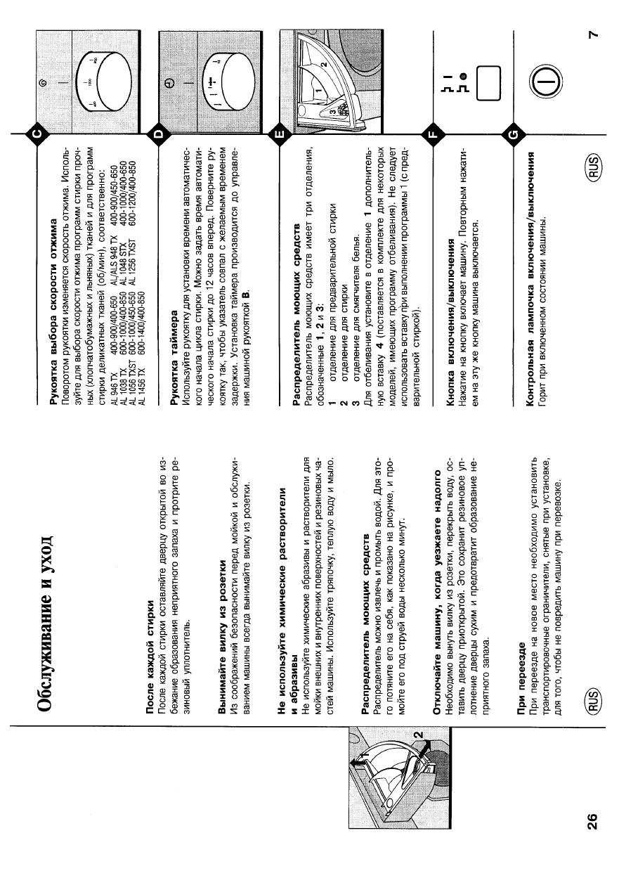 стиральная машинка аристон алс 1048 инструкция
