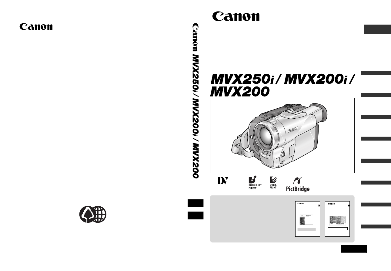 Инструкция по использованию видеокамеры canon mvx 250i