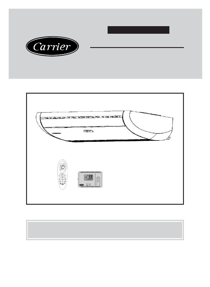 Руководство пользователя Кассетный кондиционер Carrier