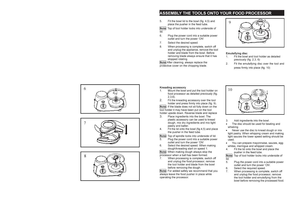 Страница 31/32] инструкция: кухонный комбайн elenberg fp-700.