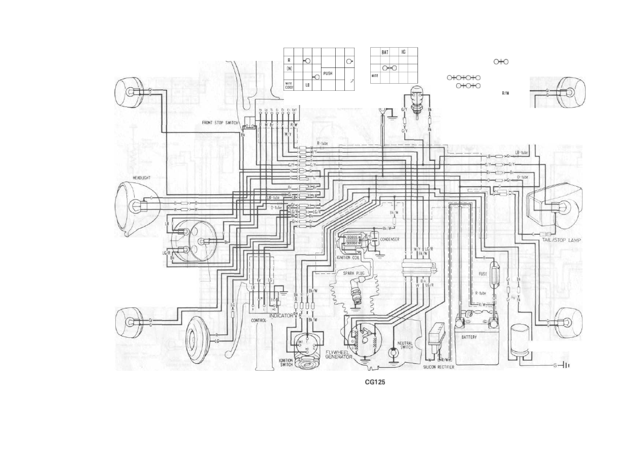 103 128 Honda Cg125 1976 1991 2006 Cbr600rr Behind Left Middle Fairing Fuse Box Diagram Background Image