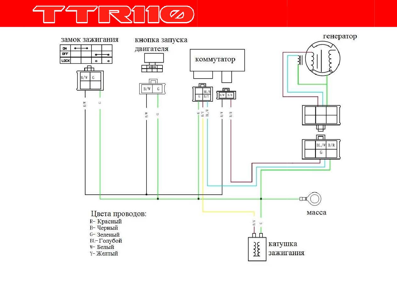 Схема проводки ттр 110