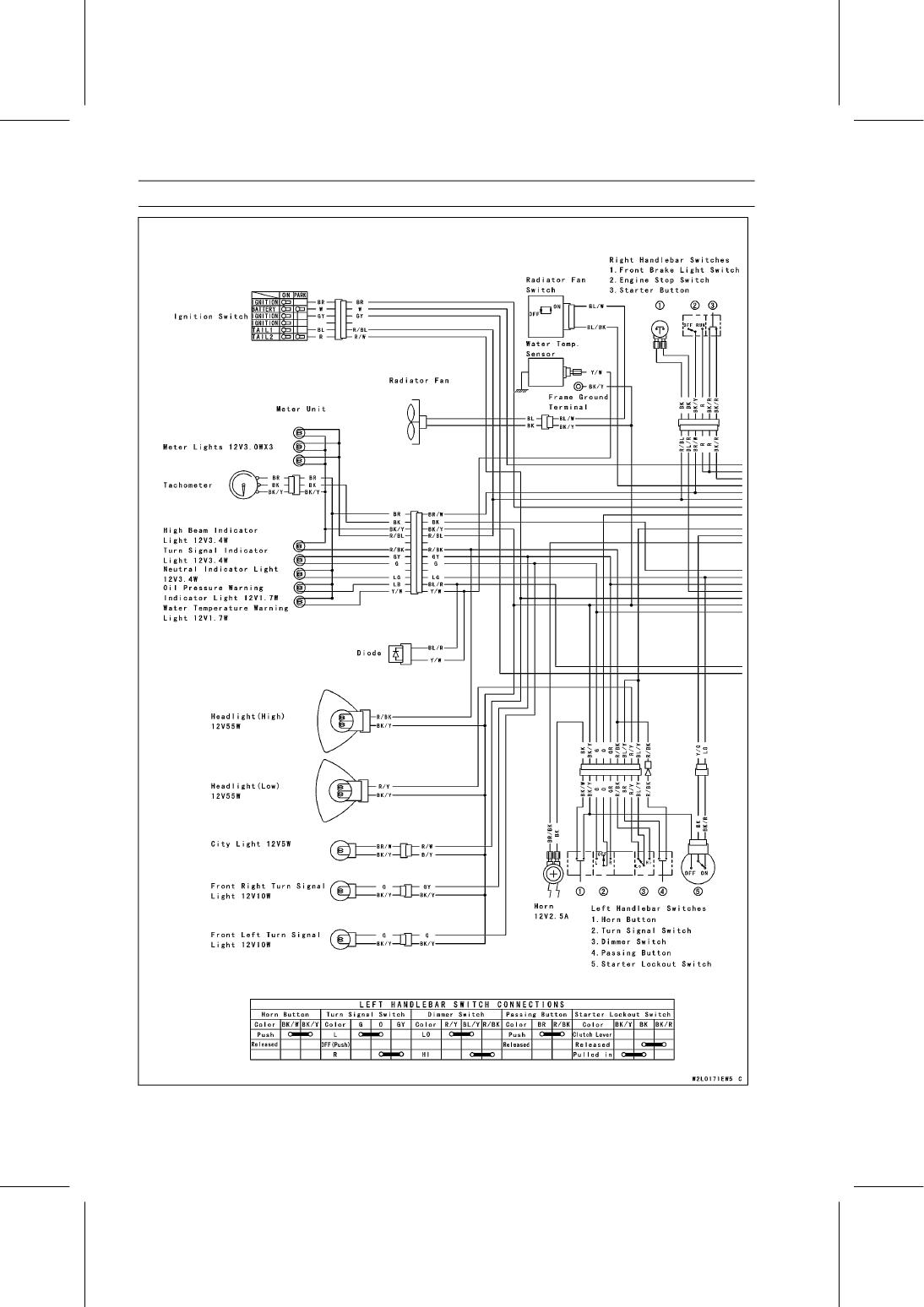 Kawasaki Kle 500 Wiring Diagram 2006 Zx6r Fuse Box Librarybackground Image 16 14 Electrical System Kle500 B1