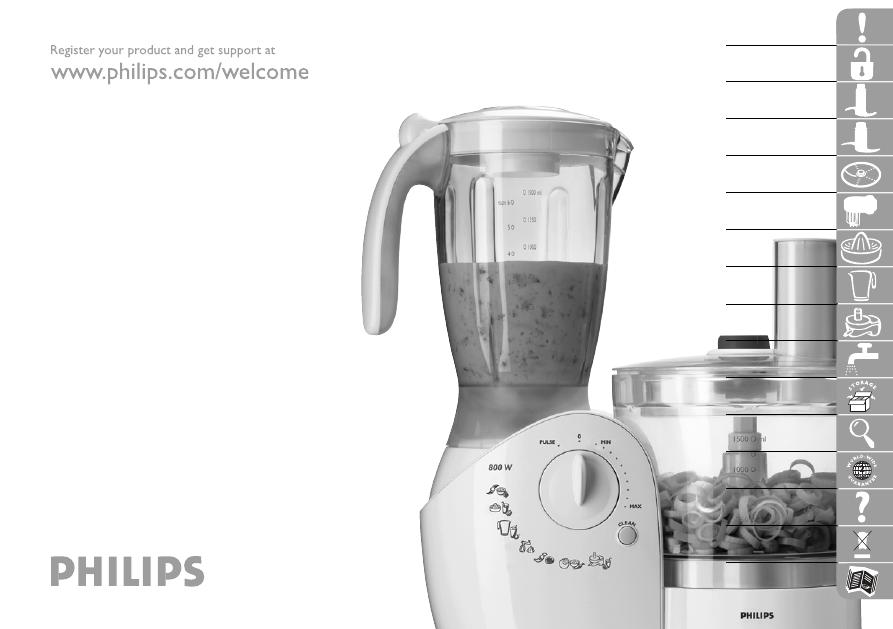 Инструкция по эксплуатации кухонного комбайна philips hr7740