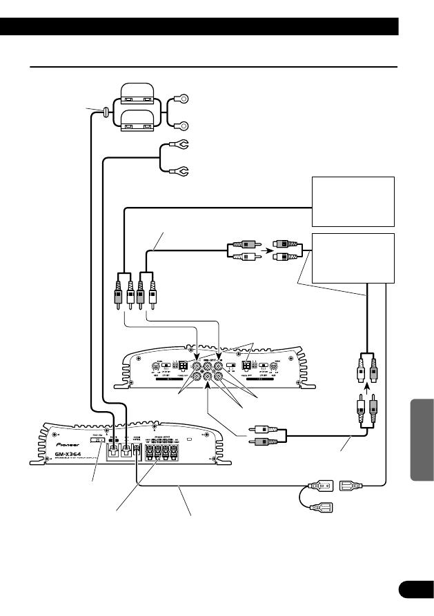 Schema Collegamento Autoradio Pioneer : Страница Руководство пользователя Усилитель