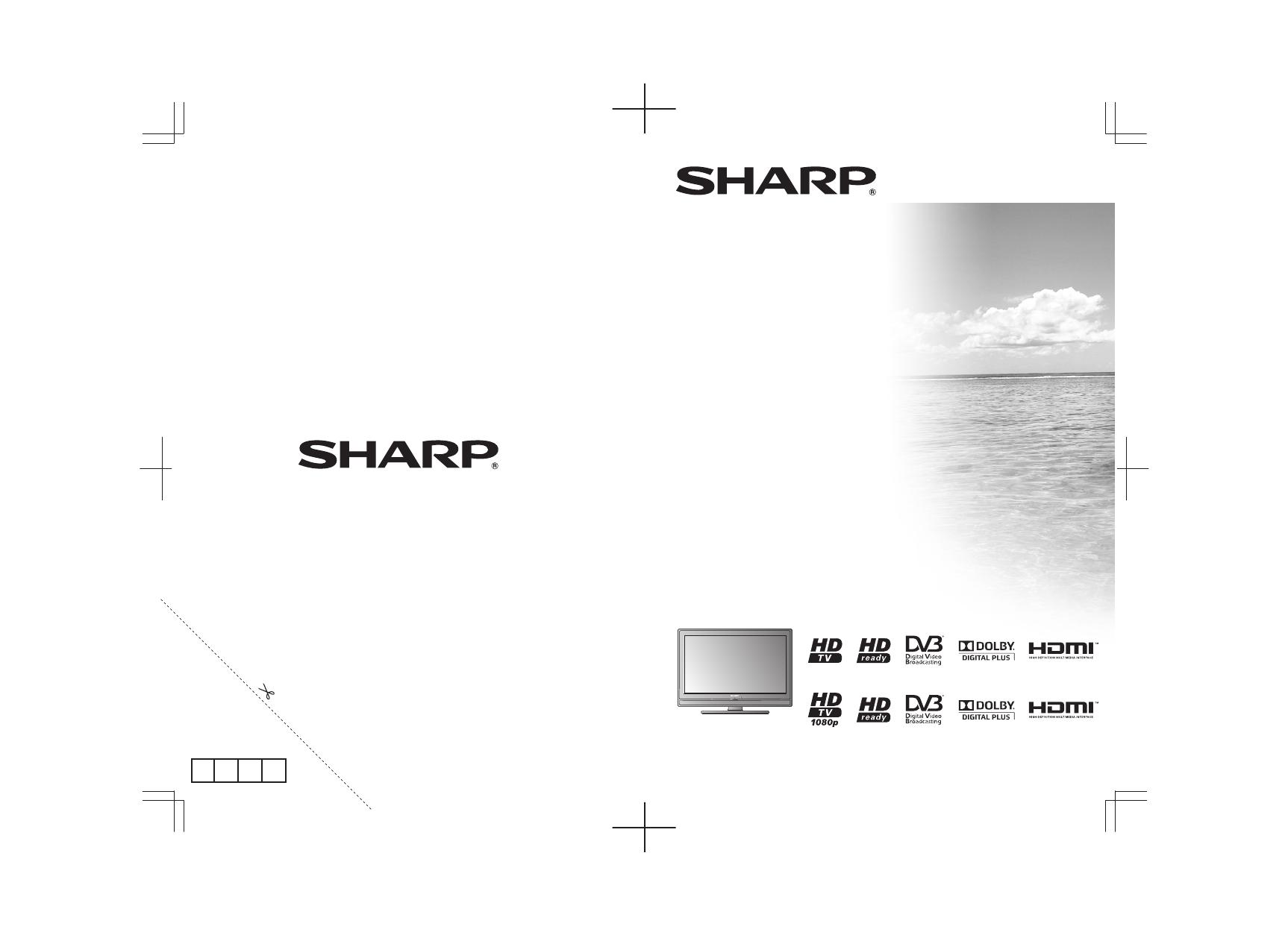 Инструкция по эксплуатации телевизор sharp