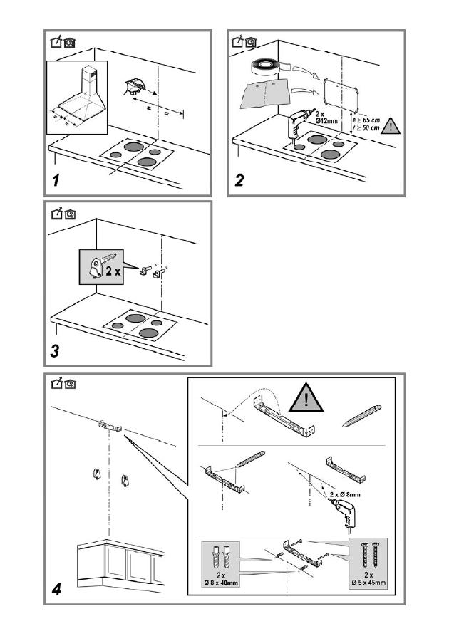 Кухонная вытяжка инструкция по установки