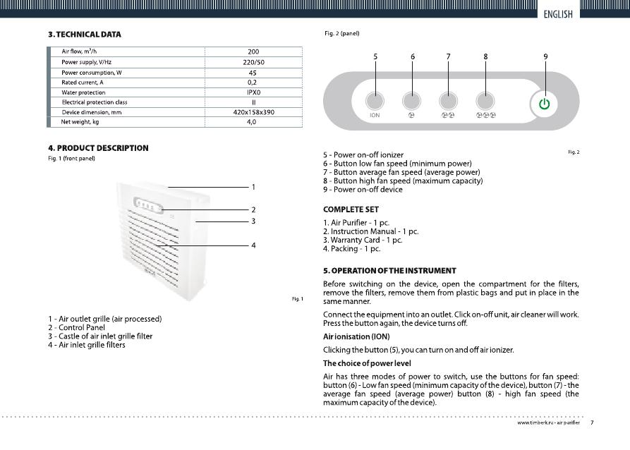 Timberk tfh w250. Rx инструкция по эксплуатации онлайн [1/8].