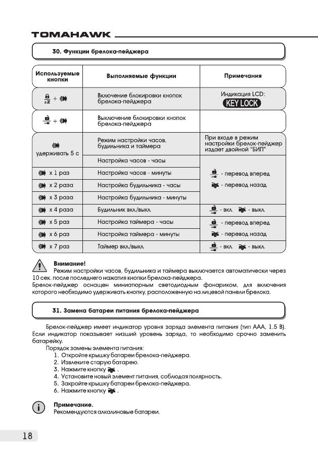 Tomahawk инструкция 9010 по эксплуатации