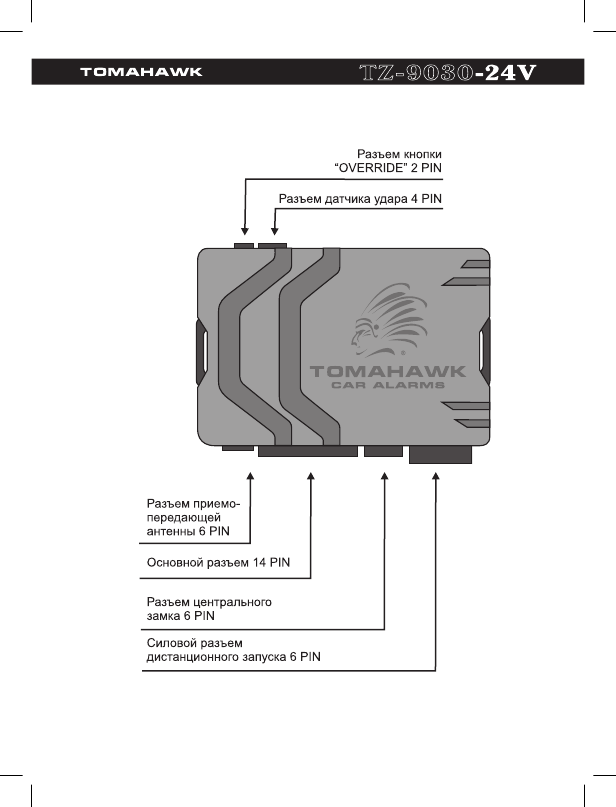 Схема подключения томагавк автосигнализации инструкция 9030