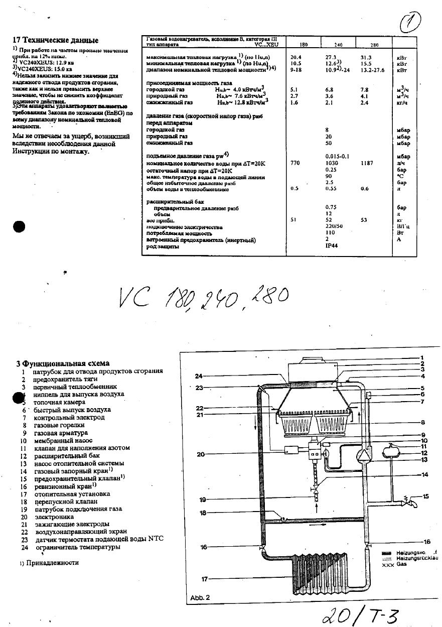 руководство по эксплуатации настенный газовый котёл Vaillant Vcw