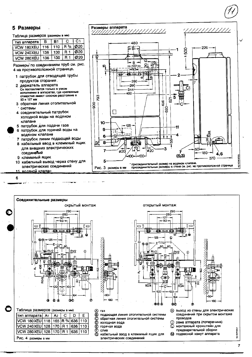 Инструкцию по эксплуатации газового котла