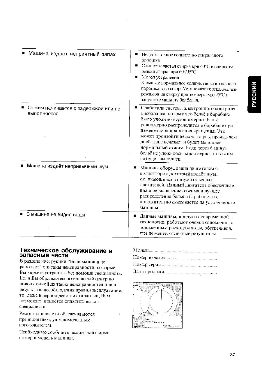 Инструкция к стиральной машинки zanussi fl 504 nn